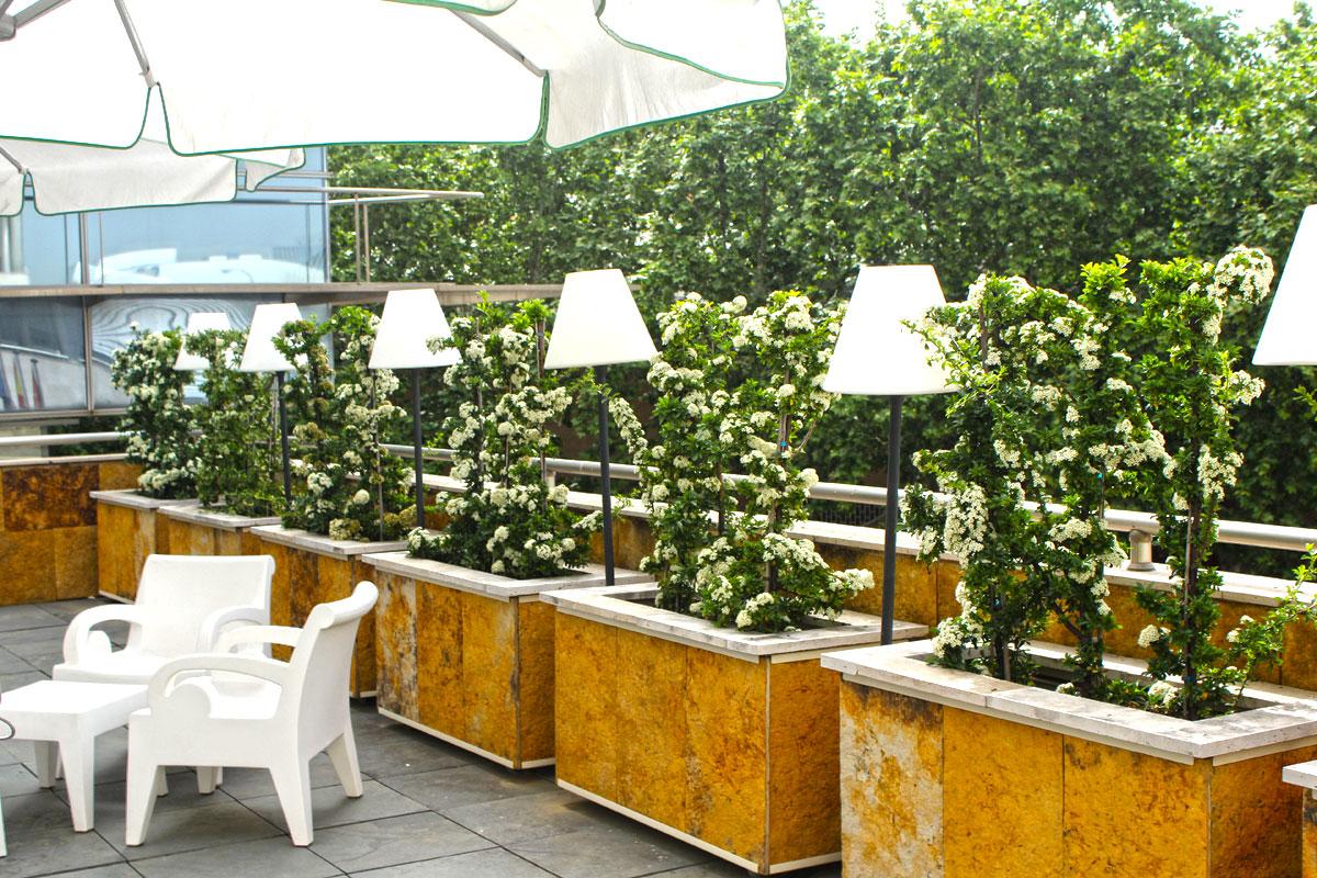 La terraza del restaurante La Pirámide